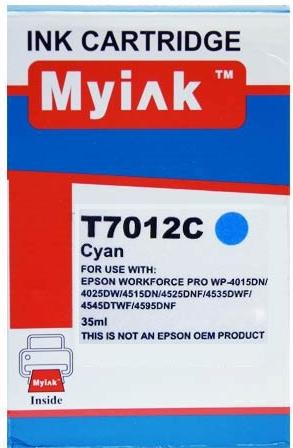 Картридж совместимый MyInk T7012 синий для Epson