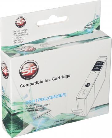 Картридж совместимый SuperFine CB323HE голубой для HP