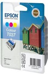 Картридж EPSON T037040 трехцветный оригинальный