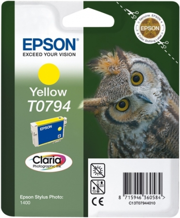 Картридж Epson C13T07944010 желтый оригинальный