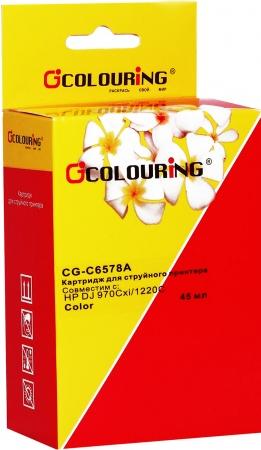 Картридж совместимый Colouring C6578AE для HP Color