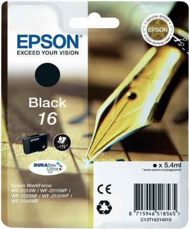 Картридж EPSON C13T16214010 черный оригинальный