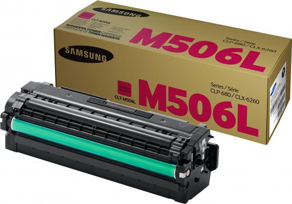 Картридж Samsung CLT-M506L пурпурный оригинальный