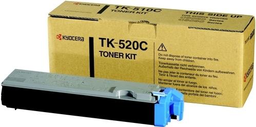 Тонер-картридж Kyocera TK-520C голубой оригинальный