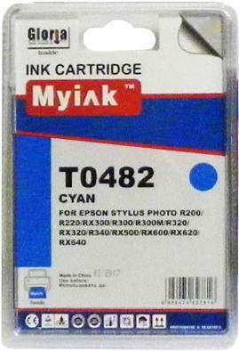 Картридж совместимый MyInk T0482 синий для Epson