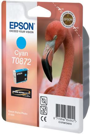 Картридж EPSON T08724010 голубой оригинальный