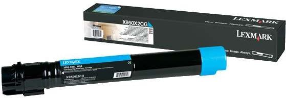 Картридж Lexmark X950X2CG голубой оригинальный