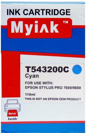 Картридж совместимый MyInk T5432 синий Epson