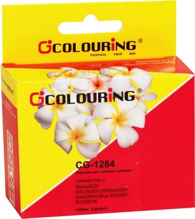 Картридж совместимый Colouring 1284 для Epson желтый