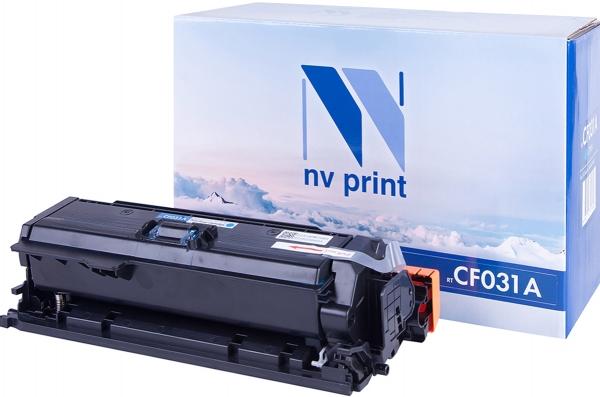 Картридж совместимый NVP CF031A голубой для HP