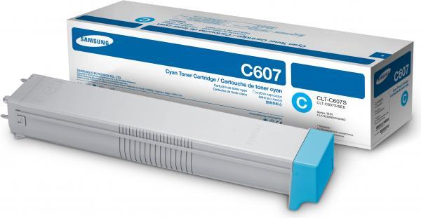 Картридж Samsung CLT-C607S голубой оригинальный