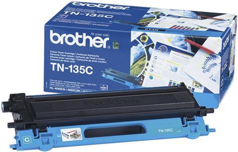 Картридж BROTHER TN-135C голубой оригинальный