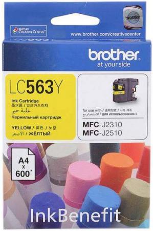 Картридж Brother LC563Y желтый оригинальный
