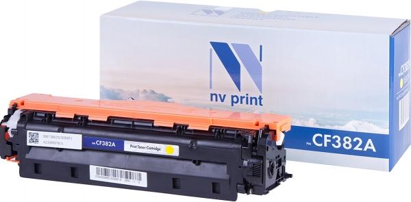 Картридж совместимый NVPrint CF382A для HP желтый