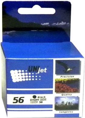 Картридж совместимый Unijet C6656A (56) черный для HP
