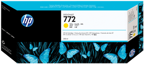 Картридж HP 772 желтый оригинальный