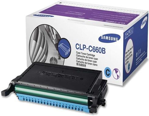 Картридж Samsung CLP-C660B голубой оригинальный