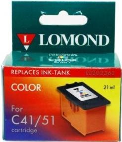 Картридж Lomond сменный контейнер CANON 41/51 цветной