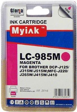 Картридж совместимый MyInk LC39/985M красный для Brother