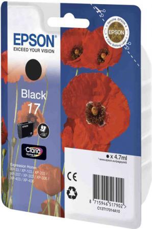 Картридж EPSON C13T17014A10 черный оригинальный