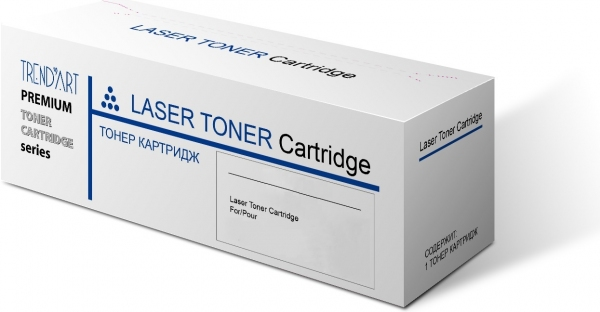 Тонер-картридж совместимый TrendArt TK-590C для Kyocera голубой