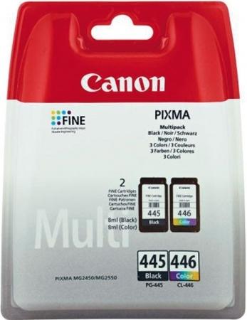 Набор картриджей Canon PG-445+CL-446 оригинальный (цветной+черный)