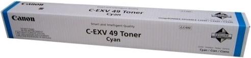 Тонер-картридж Canon C-EXV 49 голубой оригинальный