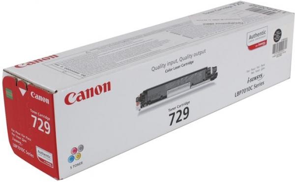 Картридж CANON 729 BK оригинальный