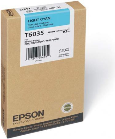 Картридж EPSON C13T603500 светло-голубой оригинальный