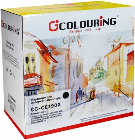 Картридж совместимый Colouring CE390X для HP