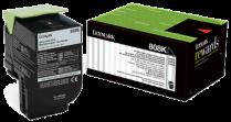 Картридж Lexmark 80C8HK0 черный оригинальный