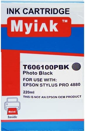 Картридж совместимый MyInk T6061 черный для Epson