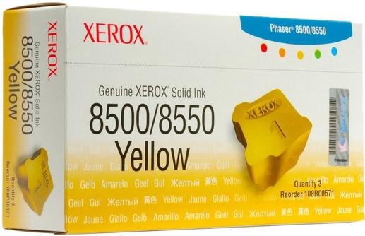 Чернила твердые XEROX Phaser 108R00671 желтые оригинальныу 3 шт/уп.