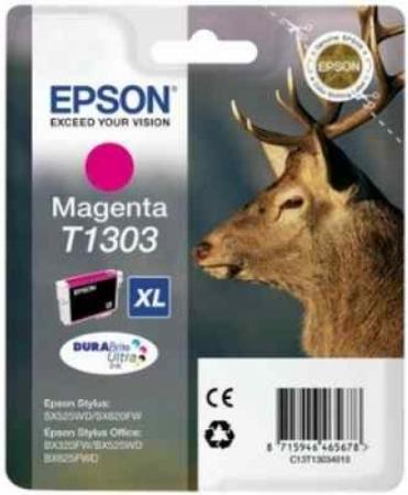 Картридж EPSON T13034012 пурпурный оригинальный