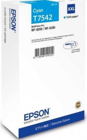 Картридж Epson T7542 (C13T754240) голубой оригинальный