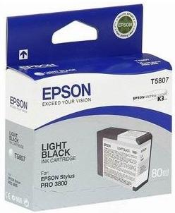 Картридж EPSON T5807 серый оригинальный