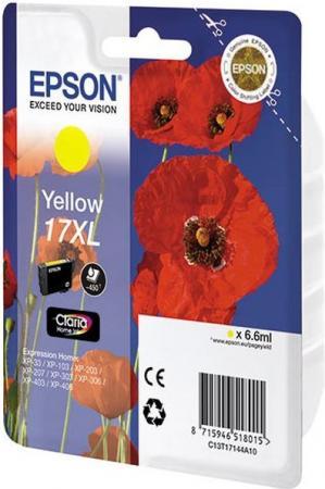 Картридж EPSON C13T17144A10 желтый оригинальный