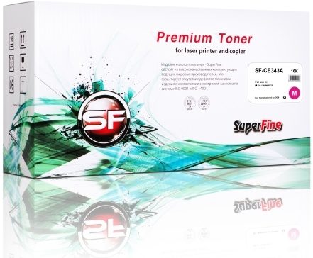 Картридж совместимый SuperFine CE343A пурпурный для HP