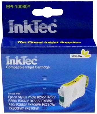 Картридж совместимый InkTec T0804 желтый для Epson