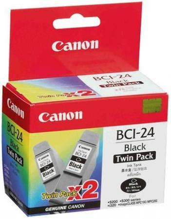 Картридж CANON BCI-24 черный двойная упаковка оригинальный