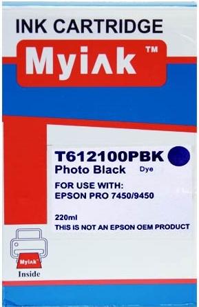 Картридж совместимый MyInk T6121 черный для Epson