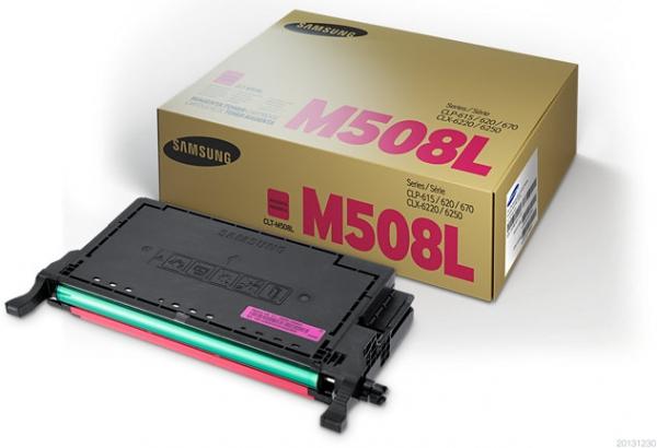Тонер-картридж Samsung CLT-M508L пурпурный оригинальный