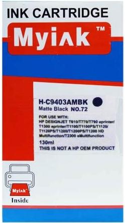 Картридж совместимый MyInk С9403А черный матовый для HP
