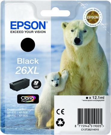 Картридж EPSON T26214010 черный оригинальный