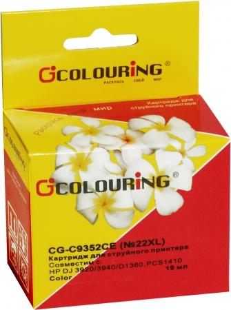 Картридж совместимый Colouring C9352CE №22XL для HP Color