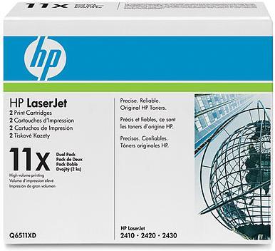 Картридж HP Q6511XD двойная упаковка оригинальный
