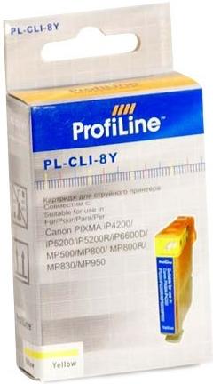 Картридж совместимый ProfiLine CLI-8Y для Canon желтый с чипом
