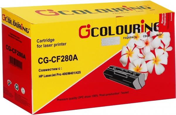 Картридж совместимый Colouring CF280A для HP