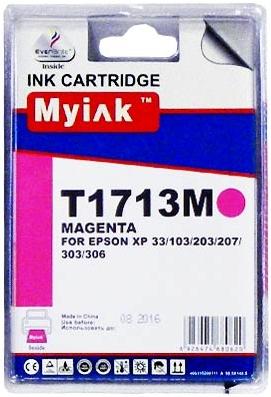 Картридж совместимый MyInk T1713 красный для Epson