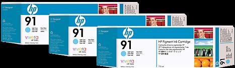 Картридж HP C9486A светло-голубой тройная упаковка оригинал